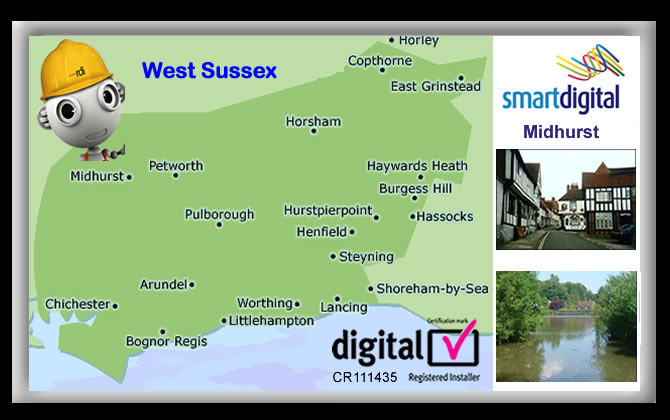 We have full coverage of Easebourne, Stedham, Pendean, West Lavington, Midhurst and all surrounding areas of West Sussex.